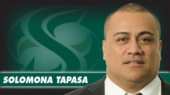 FOOTBALL NAMES SOLOMONA TAPASA DEFENSIVE LINE COACH