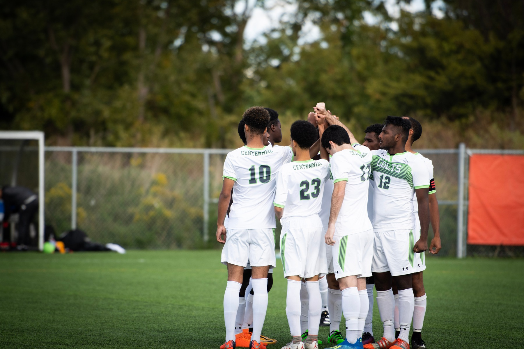 The team's camaraderie looks to propel them to a historic victory against the Sheridan Bruins tonight at home. (Via Dulay/Sports Information Officer)