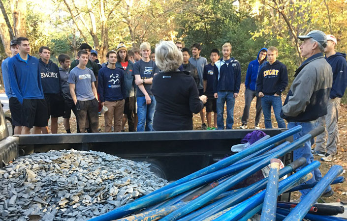Men's Cross Country Partners with South Fork Conservancy for Community Service Project