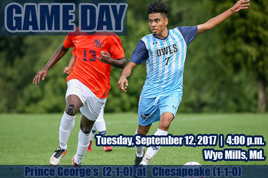 Sixth-Ranked Prince George Men's Soccer Concludes Short Road Trip At Chesapeake On Tuesday