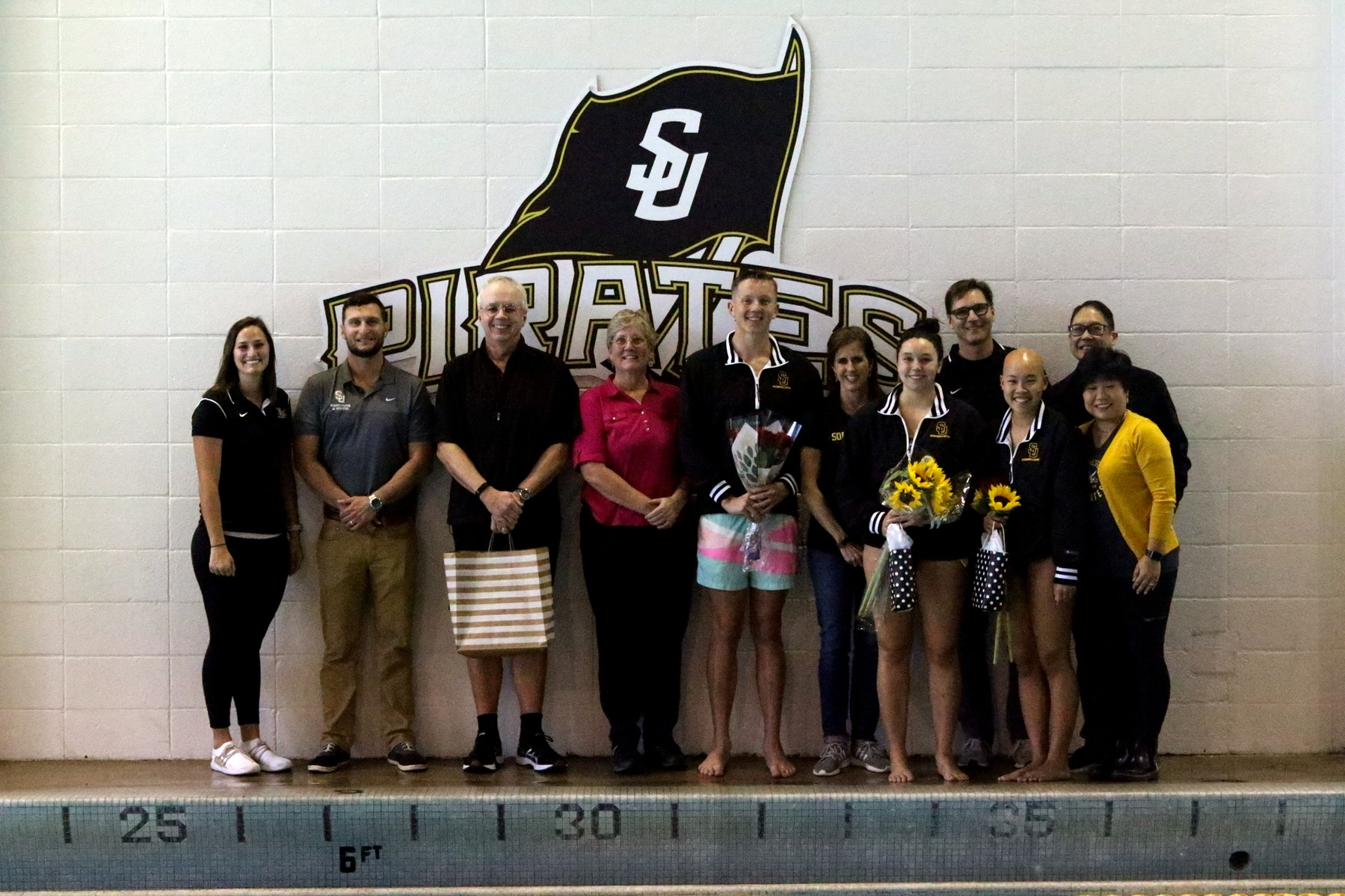 Swimming Celebrates Senior Day With Win Over Trinity University