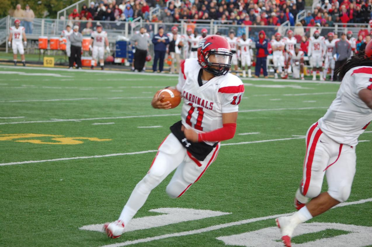 Jonathon Jennings lead the Cardinals to the big 28-20 win over Wayne State