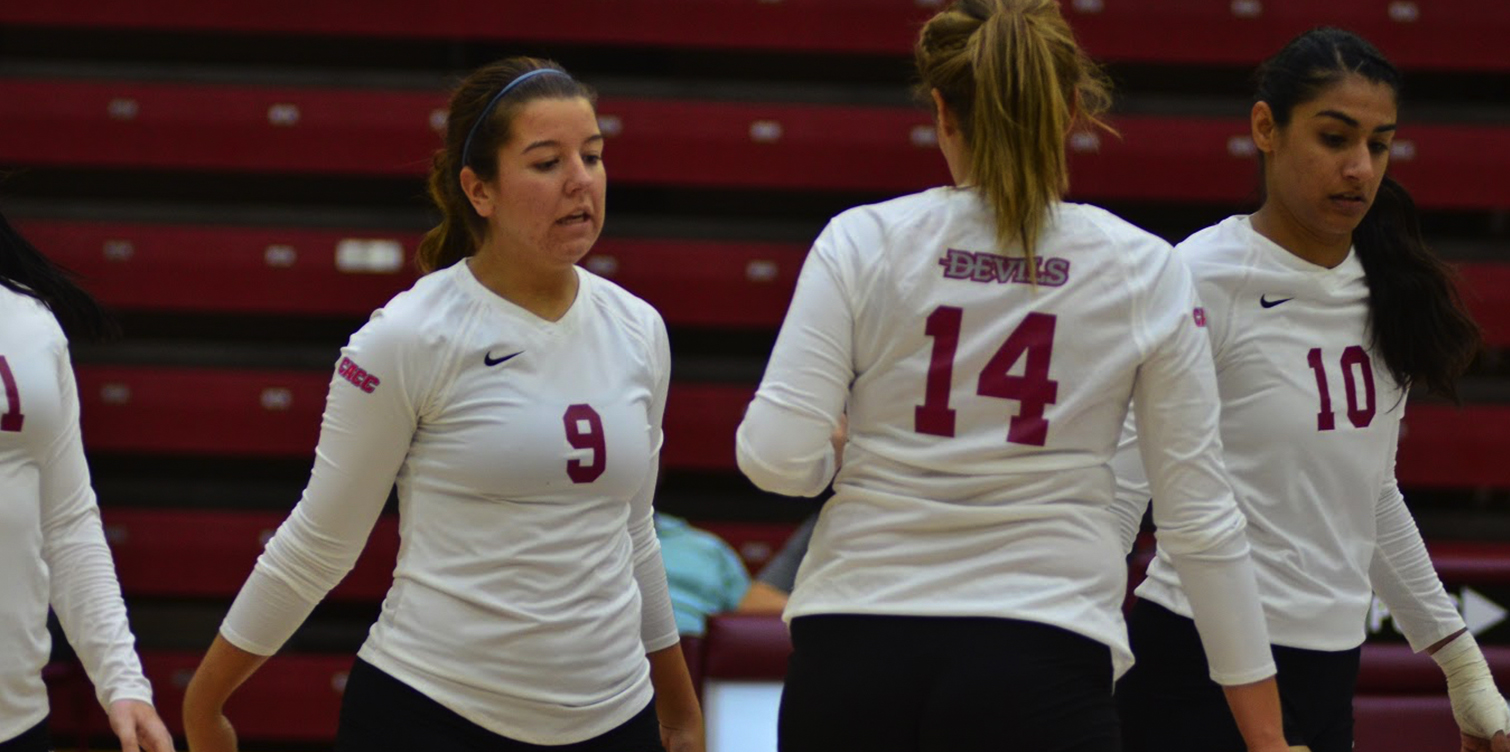 Numerous Devils Set Career-Highs in Volleyball's CACC-Opening Sweep of Dominican