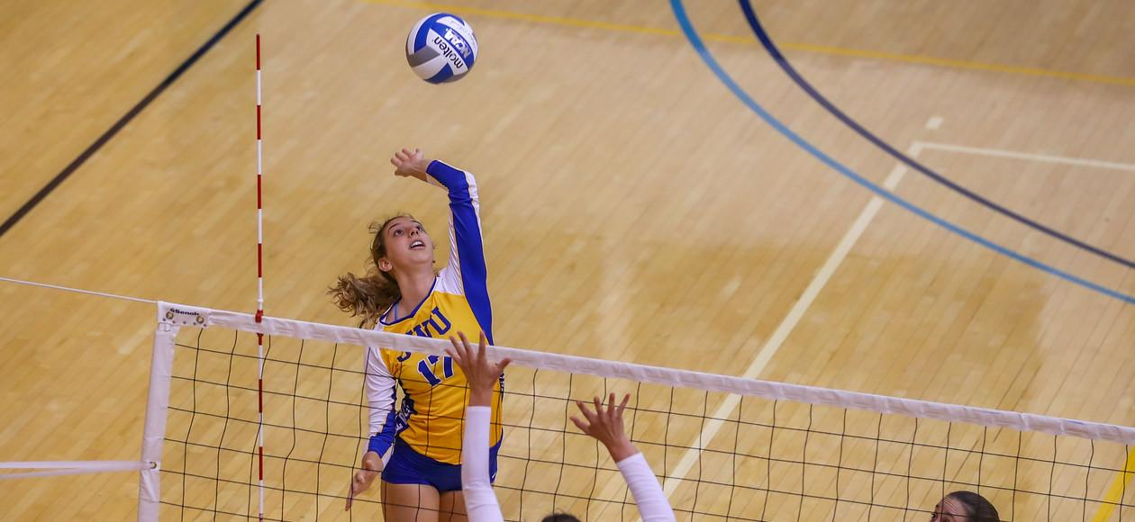 16th-Ranked JWU Women's Volleyball Tames Cougars 3-0