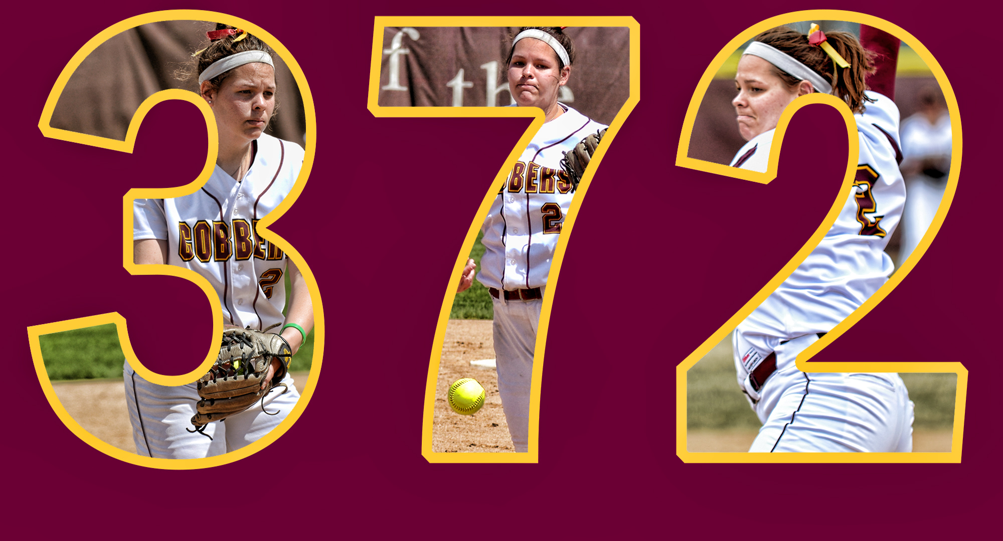 Abby Haraldson struck out her 372nd hitter to become the school's all-time strikeout leader.