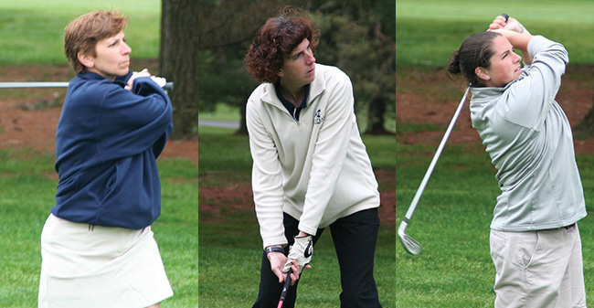 Mary Beth Spirk, Amy Endler and Sara Steinman on the links.