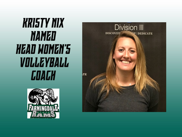 Kristy Nix Named Head Women's Volleyball Coach at Farmingdale State