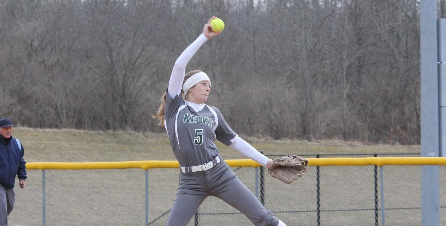 Whitney Tyler threw the complete game for the Wolves against Virginia Wesleyan