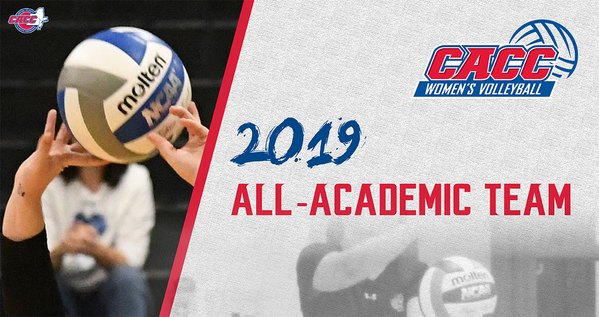 Forty-Nine Student-Athletes Named to 2019 CACC Women's Volleyball All-Academic Team