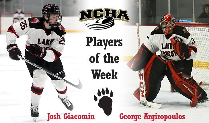 Lake Forest Sweeps NCHA Player of the Week Honors