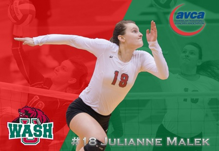 Julianne Malek of Washington University Selected to AVCA All-America Third Team