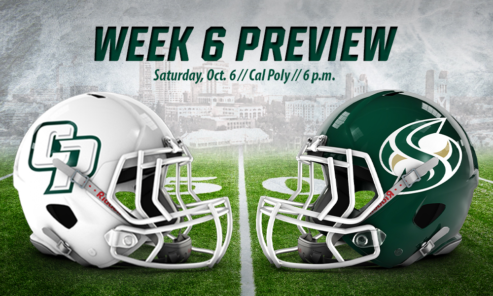 FOOTBALL RETURNS  HOME TO FACE CAL POLY ON SATURDAY