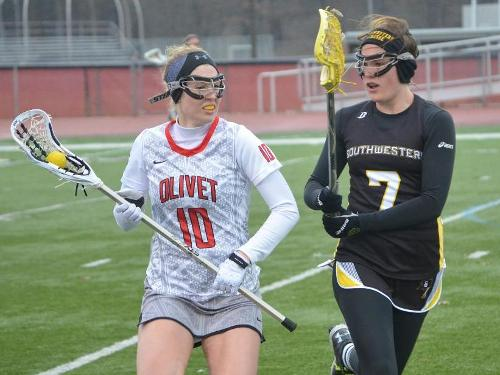 Women's lacrosse team suffers 14-9 setback to Southwestern