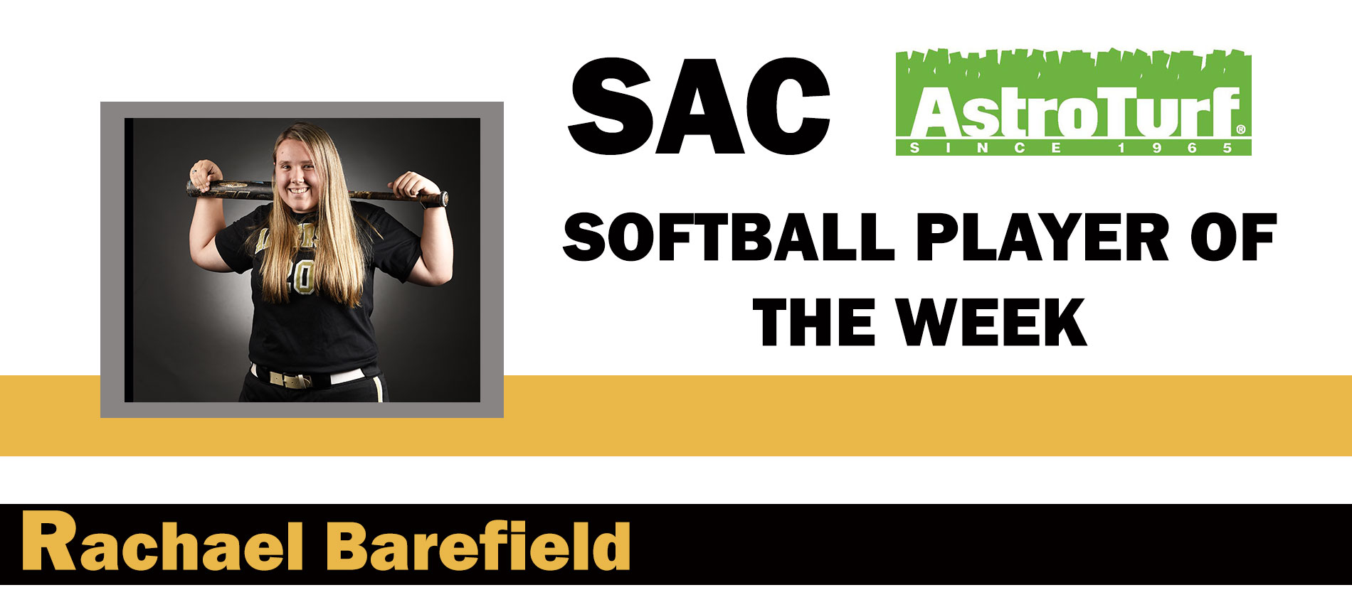 Barefield Named AstroTurf SAC Softball Player of the Week