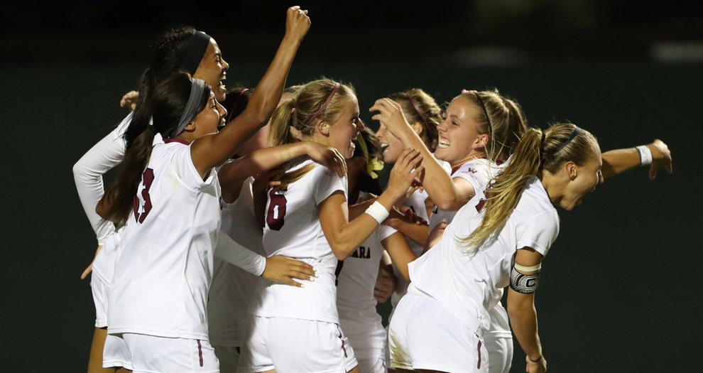 Double Overtime Win at No. 2 Stanford Puts Women's Soccer in Sweet 16