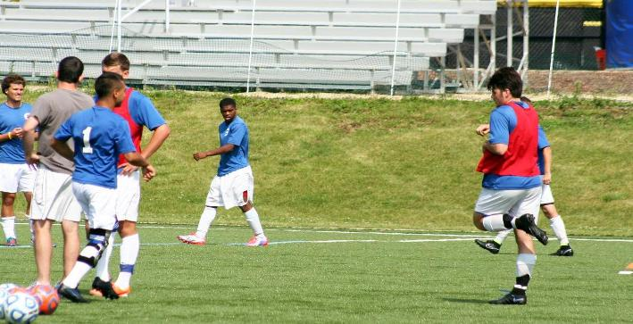Camp Confidential: Men's Soccer has strong afternoon session Monday
