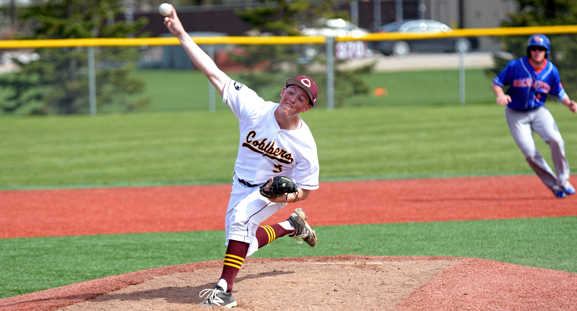 Junior Cole Christensen pitched a complete-game five-hitter  to earn the win in the Cobbers' 3-1 victory over Wartburg in the final game in Florida.