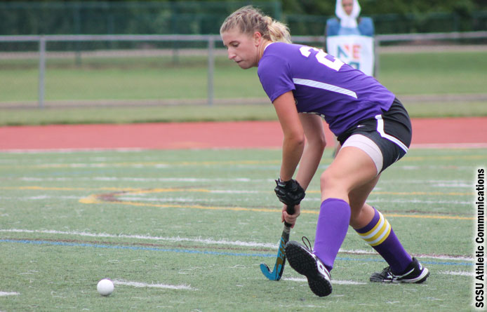 Field Hockey Shut Out by Saint Anselm, 2-0, in NE10 Play
