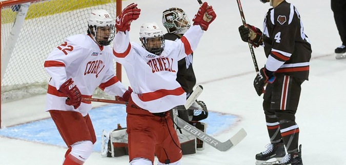 Cornell tops Brown, advances to ECAC Hockey Championship