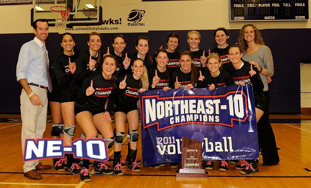 Adelphi Wins First Ever Northeast-10 Volleyball Championship