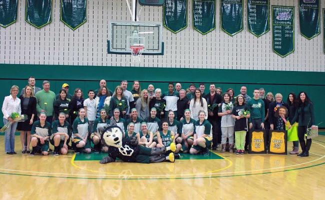 Keuka College's women's basketball team suffered a 48-44 setback vs. Penn College Sunday on Senior Day (photo courtesy of Megan Chase, Keuka College Sports Information department).