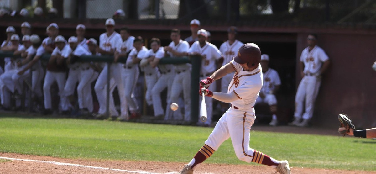 Henri Levenson recorded his 100th career-hit during the doubleheader split at Whittier on Saturday.