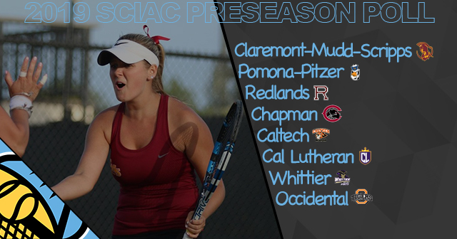 CMS Picked First in 2019 SCIAC Women's Tennis Preseason Poll