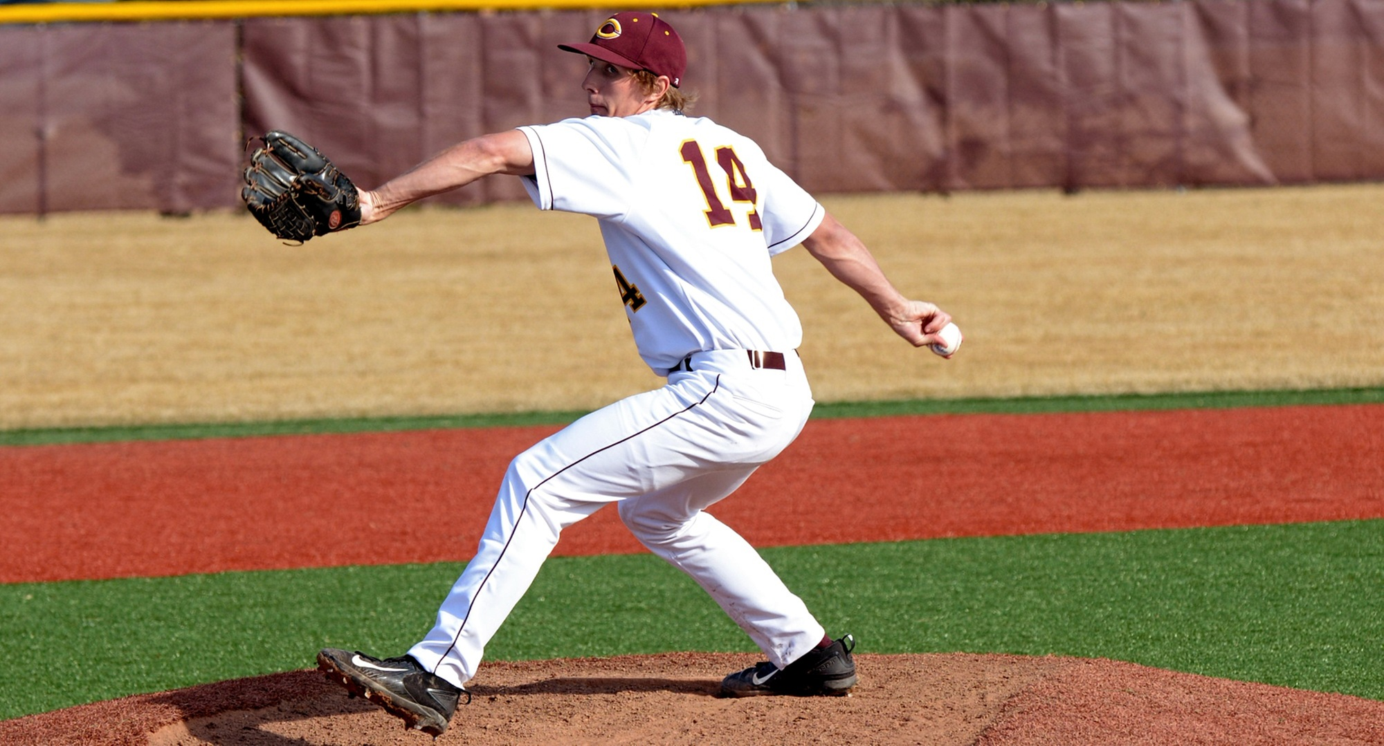 Freshman Austin Ver Steeg allowed only two hits and pitched a complete-game shutout to help the Cobbers sweep Gustavus.