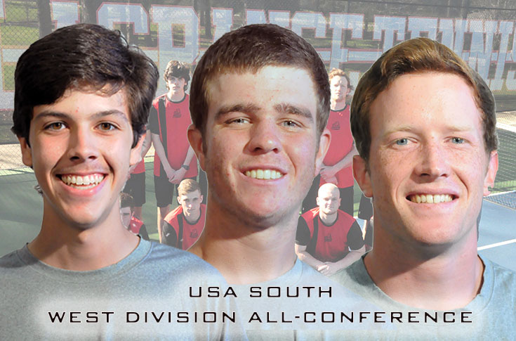 Men's Tennis: Panthers place three players on USA South West Division All-Conference team
