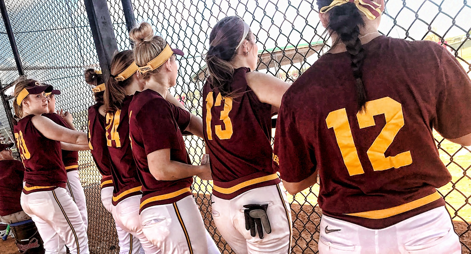 The Cobber bench looks on during the first game of the team's 2018 season in Clermont, Fla.