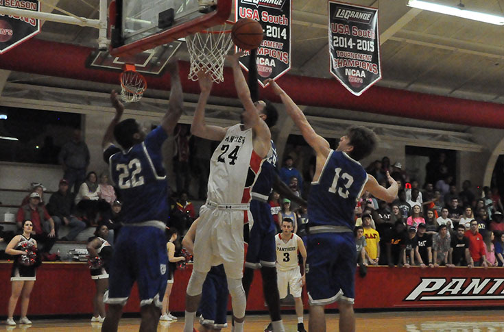 Men's Basketball: Panthers turn back Covenant 76-65 for key USA South win