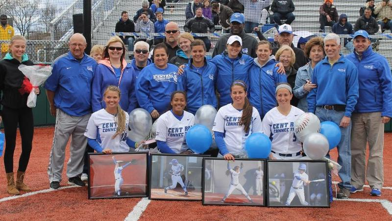 Senior Day Softball Sweep Clinches NEC Tourney Berth