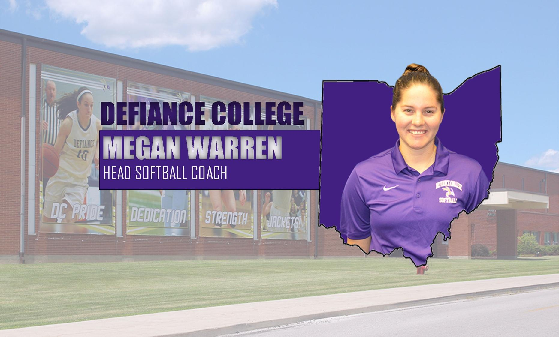 Defiance Alumna Megan Warren Named Head Softball Coach