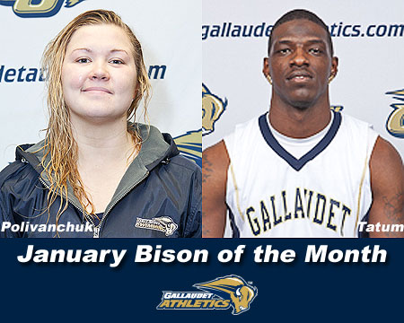 Alexandra Polivanchuk, Tony Tatum named January Bison of the Month