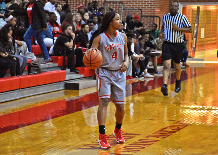 T.I. Duncan scored 13 points and recorded nine rebounds and seven assists in Huntingdon's 69-61 win over Covenant. (Photo by Wesley Lyle)