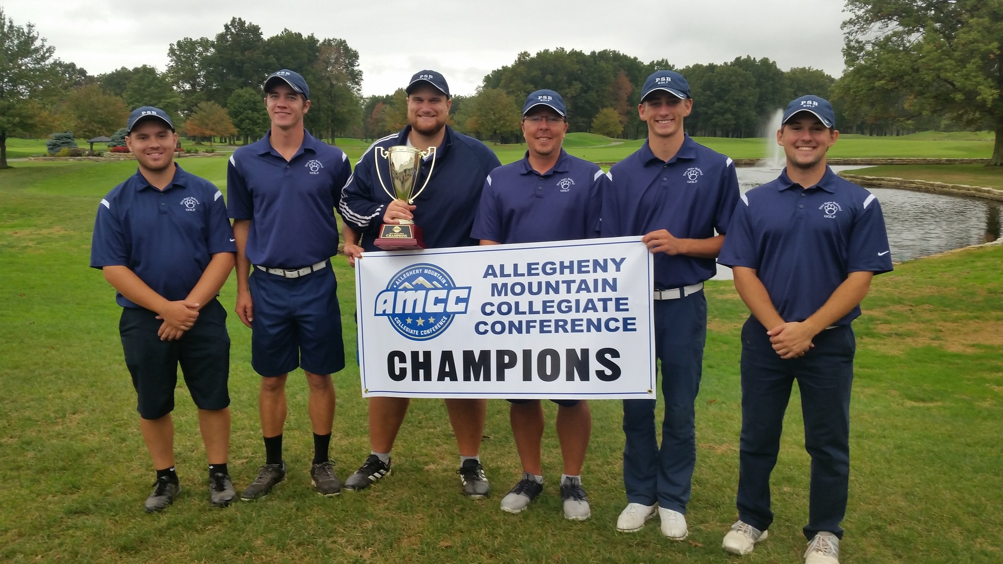 Men's Golf Claims Seventh Straight AMCC Championship; Perfett Individiual Champion