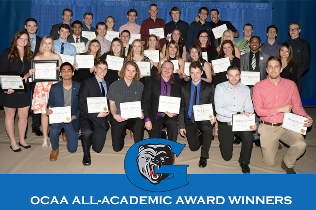 INCREDIBLE 59 GRIZZLIES EARN OCAA ALL-ACADEMIC AWARD
