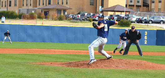 Baseball stumbles against No. 1 Trinity University in road doubleheader; Tigers best Crusaders in Game 1, 9-1, before edging Dallas in Game 2, 9-8