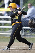 Taylor Hall hit her fifth homerun of the year on Saturday