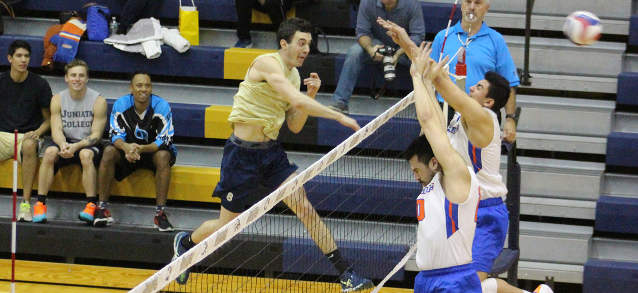 Matt Vasinko had a team-high nine digs for the Eagles.
