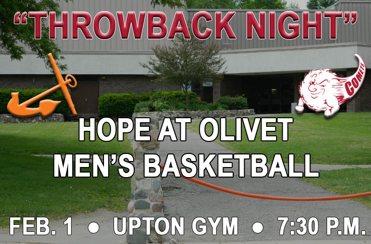 "Olivet men's basketball to host ""Throwback Game"" Wednesday at Upton Gym"