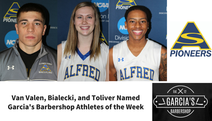 Bialecki, Toliver, and Van Valen Named Garcia's Barbershop Athletes of the Week