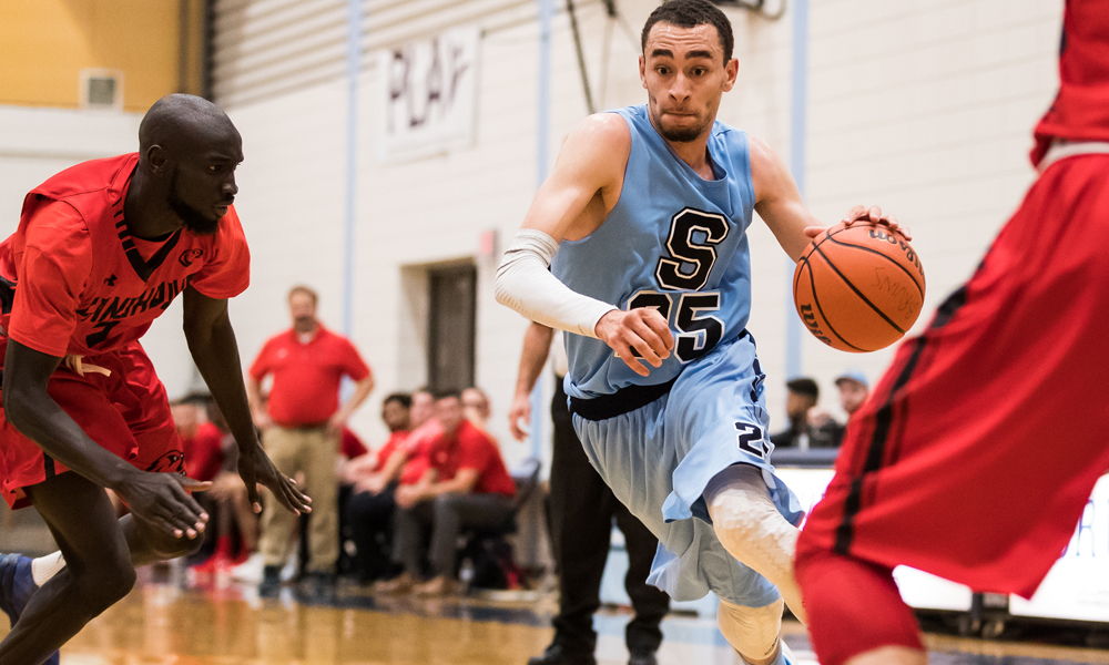 Men's basketball cap regular season with hard-fought win at Fanshawe