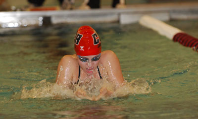 Both Men and Women Swimmers Finish Third at the Landmark Conference Swim Championships