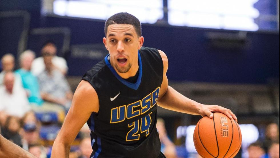 Michael Bryson tied his career-high with 29 points to lead UCSB past Iona, 80-76 on Tuesday in Las Vegas. (Photo by Tony Mastres)