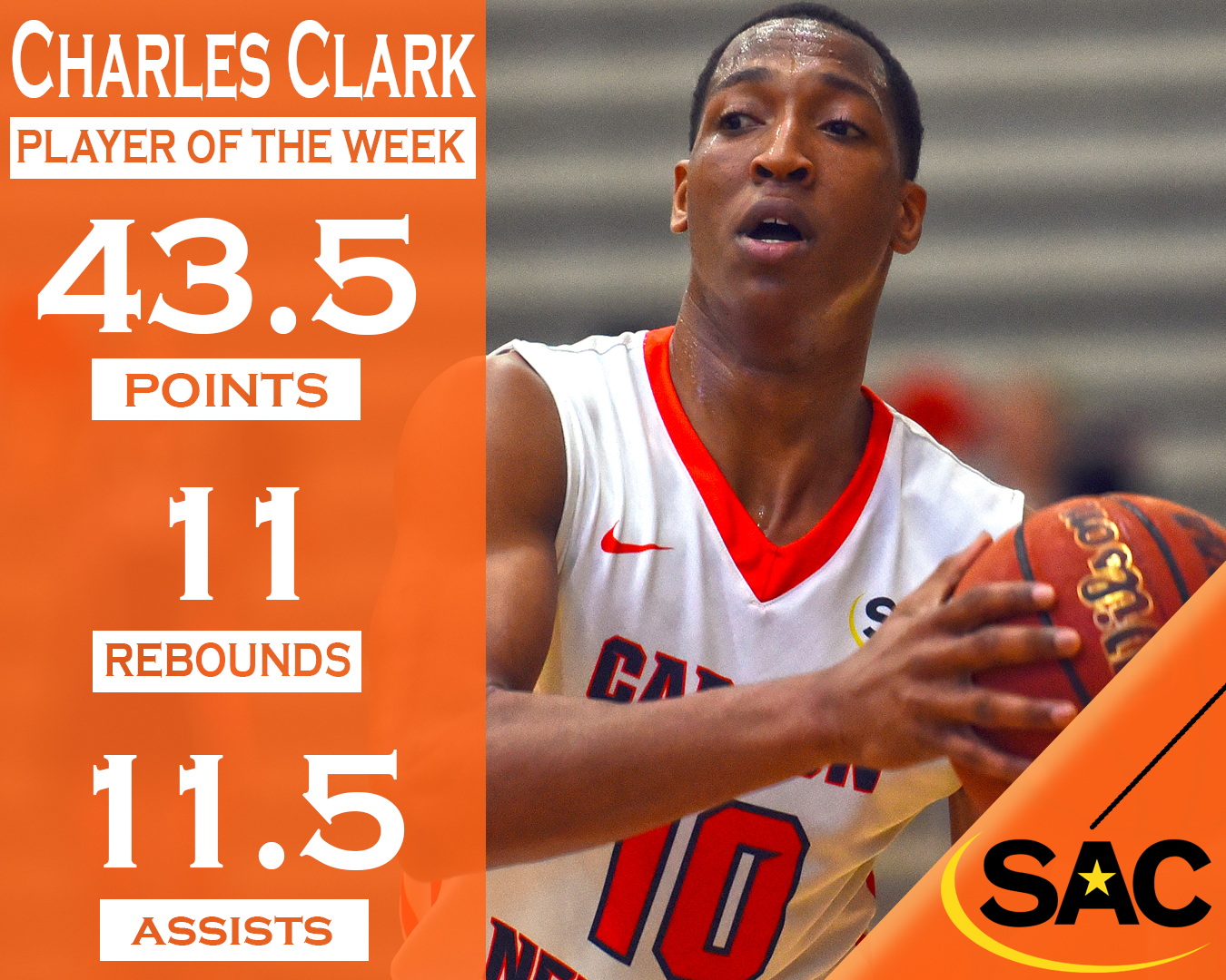 Clark's prodigious week garners AstroTurf South  Atlantic Conference Player of the Week honors