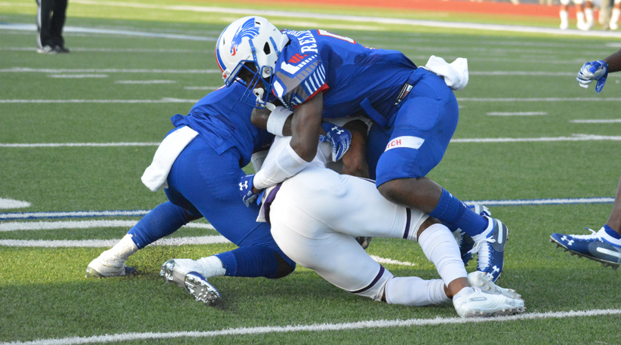 The Blue Dragons will need another stellar defensive effort on Saturday against No. 5 Independence in a 7 p.m. kickoff at Independence. (Bre Rogers/Blue Dragon Sports Information)