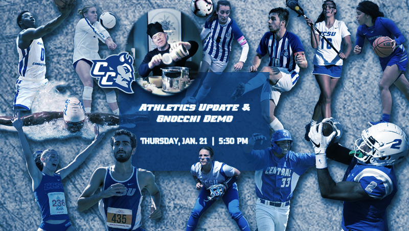 CCSU Athletics Update and Cooking Demonstration Event Scheduled for Jan. 21