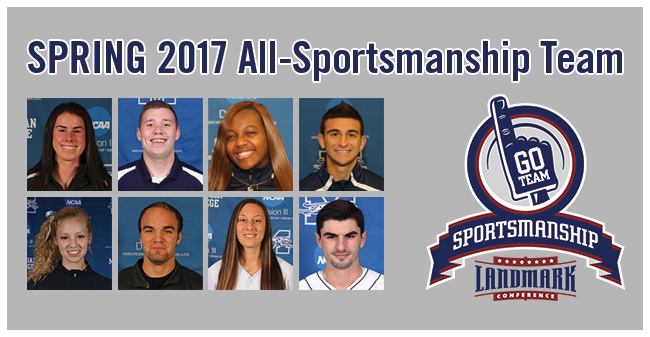 Eight Greyhounds Named to 2017 Landmark Conference Spring All-Sportsmanship Team