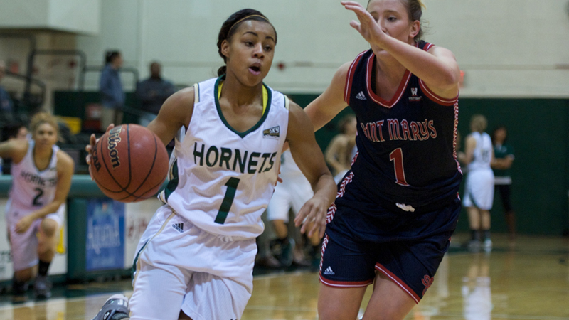 WOMEN'S BASKETBALL UPENDS PREVIOUSLY UNDEFEATED SAINT MARY'S 94-92
